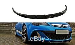 Tasse Lèvre de Spoiler Avant Approche Pour Opel Astra J OPC / Vxr Nuerburg Noire