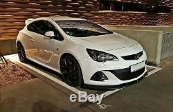 Tasse Lèvre de Spoiler Avant Approche Pour Opel Astra J OPC / Vxr V. 1 Noir Tapis