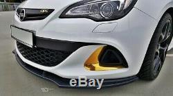 Tasse Lèvre de Spoiler Opel Astra J OPC / Vxr V. 1 Schwarz Mat