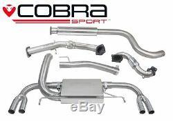 VX25a Cobra Échappement pour Opel Astra J Vxr 12 Dos de Turbo + Cat &