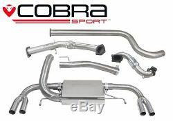 VX25b Cobra Échappement pour Opel Astra J Vxr 12 Dos de Turbo + Cat & Nonres
